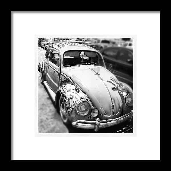 Volkswagon Framed Print featuring the photograph 1961 Volkswagon Beetle by Gwyn Newcombe
