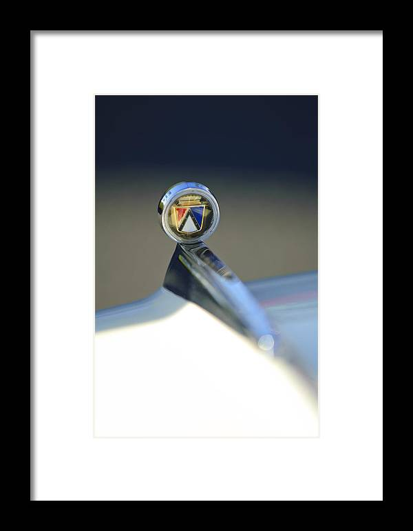 1963 Ford Futura Framed Print featuring the photograph 1963 Ford Futura Hood Ornament by Jill Reger