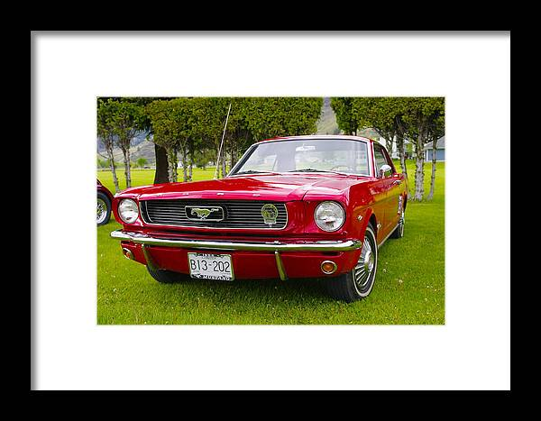1966 Framed Print featuring the photograph 1966 Ford Mustang by John Greaves