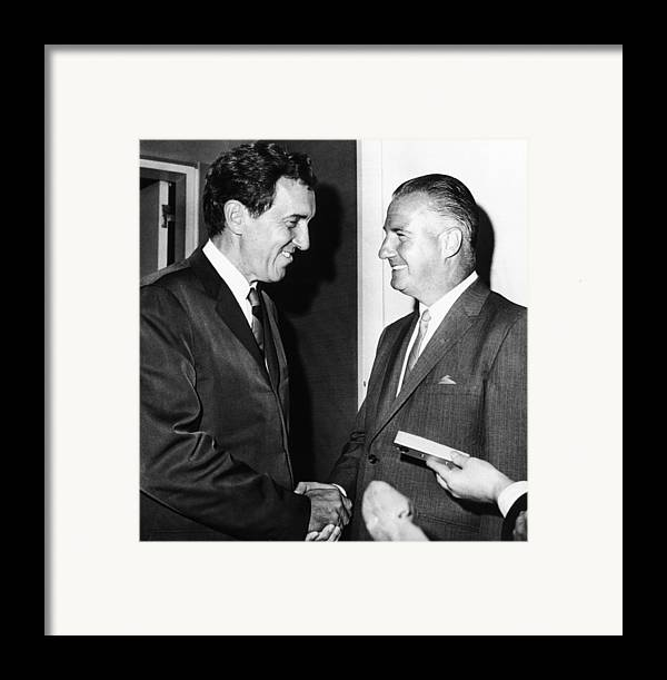 History Framed Print featuring the photograph 1968 Republican And Democratic Vice by Everett