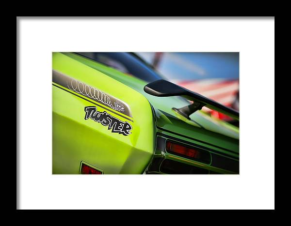 Plymouth Framed Print featuring the photograph 1971 Plymouth Duster Twister by Gordon Dean II