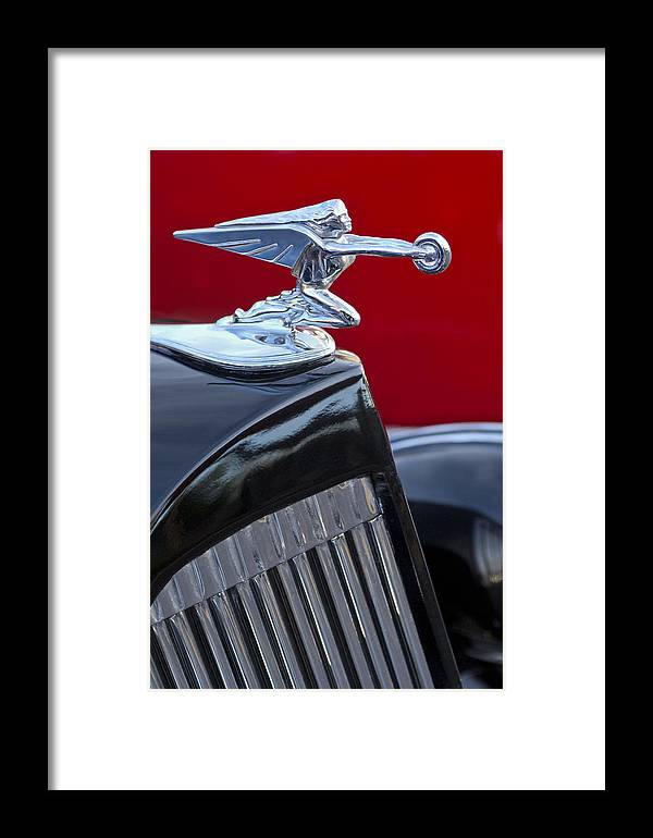 1935 Packard Framed Print featuring the photograph 1935 Packard Hood Ornament by Jill Reger