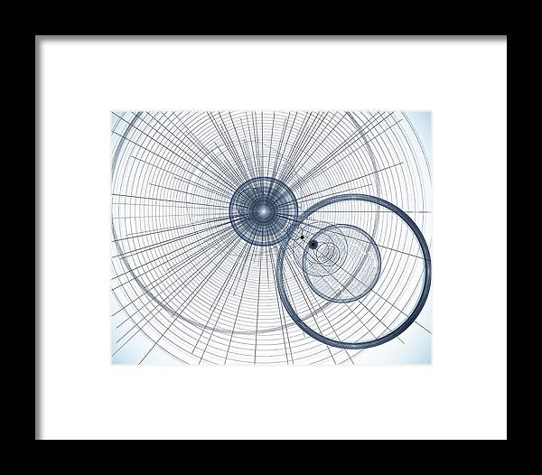 Art Framed Print featuring the digital art Abstract Circle Art by David Pyatt