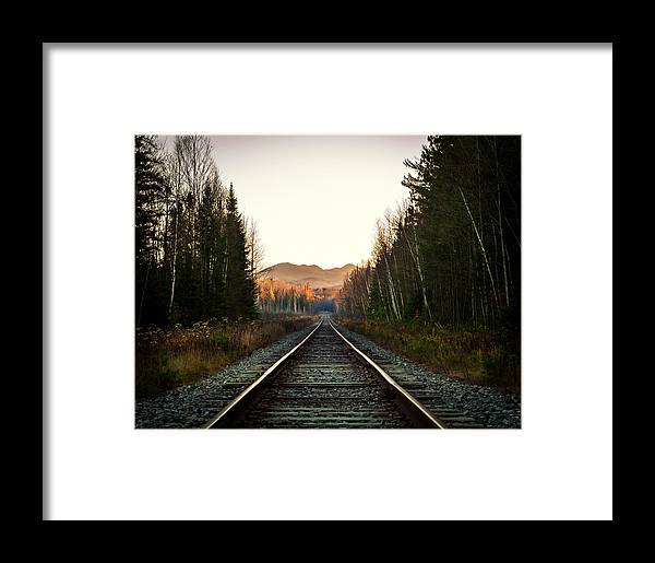 Framed Print featuring the photograph Adirondack Tracks by Travis MacDonald