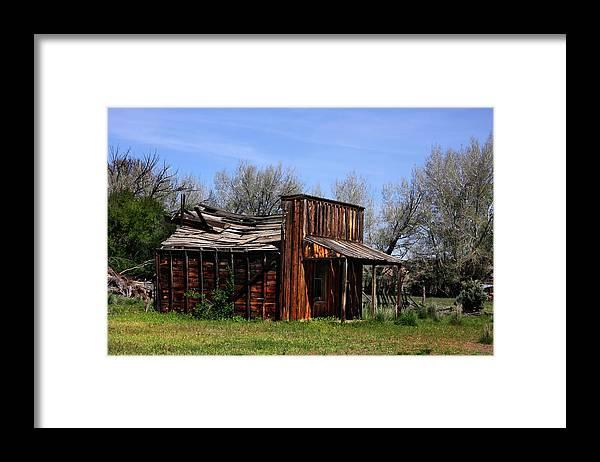 Utah Framed Print featuring the photograph AMericana Gunsmoke Movie Set by Southern Utah Photography