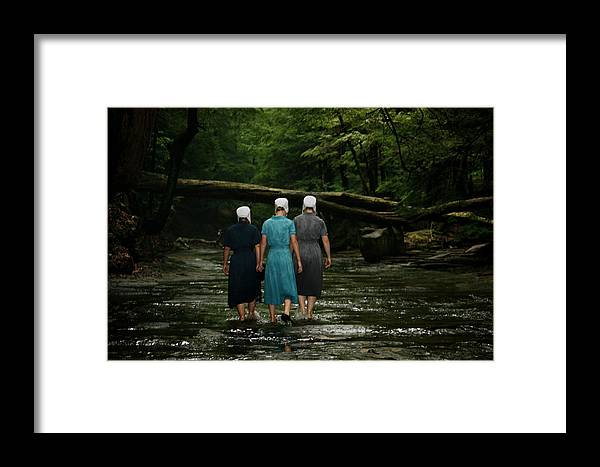 Amish Framed Print featuring the photograph Amish Creek Hike by MB Matthews