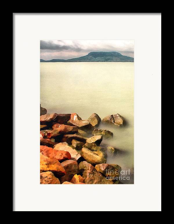 Odon Framed Print featuring the painting Calm by Odon Czintos