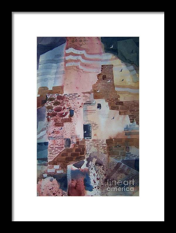 Chaco Canyon Framed Print featuring the painting Chaco Canyon by Micheal Jones