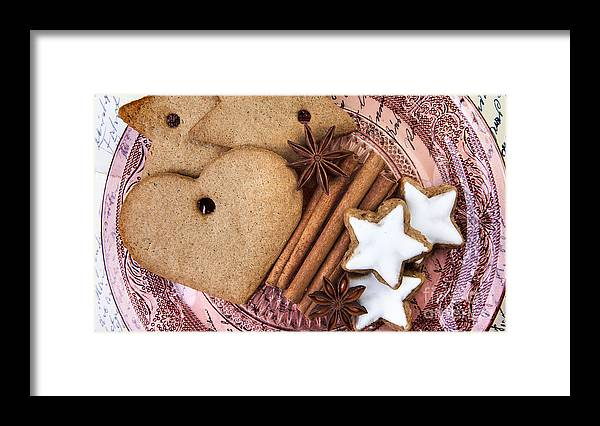Ginger Framed Print featuring the photograph Christmas Gingerbread by Nailia Schwarz