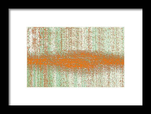 Digital Graphic Framed Print featuring the digital art Color Rust by Mihaela Stancu