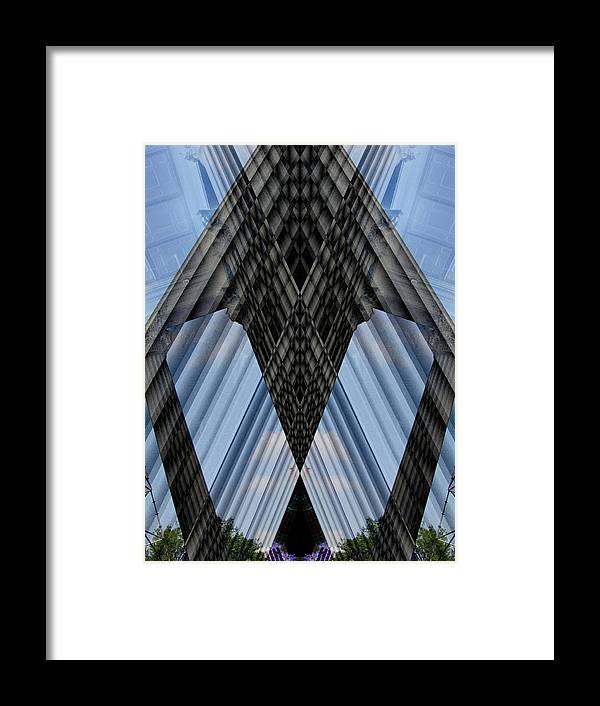 Digital Framed Print featuring the digital art Columns by Michele Caporaso