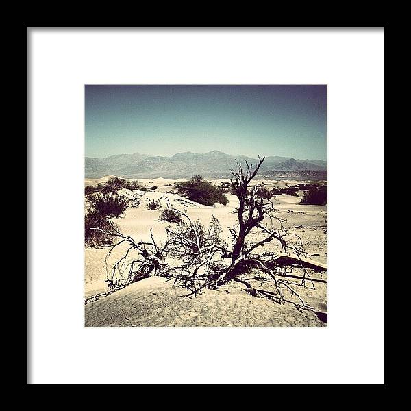Beautiful Framed Print featuring the photograph Death Valley by Luisa Azzolini