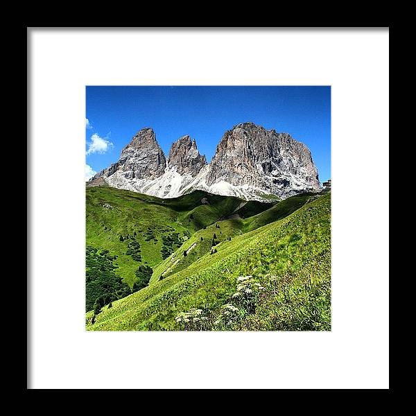 Alps Framed Print featuring the photograph Dolomites by Luisa Azzolini