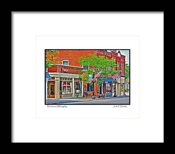Downtown Willoughby Framed Print featuring the photograph Downtown Willoughby by Jack Schultz