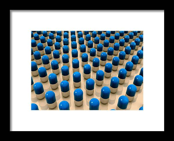 Drug Framed Print featuring the photograph Drug Pills, Artwork by Robert Brocksmith