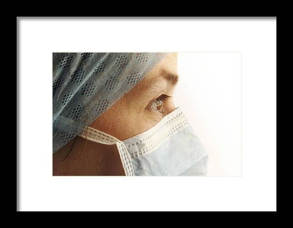 Human Framed Print featuring the photograph Female Surgeon by Tim Vernonlth Nhs Trust