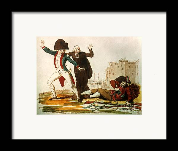 1792 Framed Print featuring the photograph French Revolution, 1792 by Granger