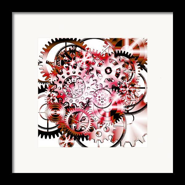 Art Framed Print featuring the photograph Gears Wheels Design by Setsiri Silapasuwanchai