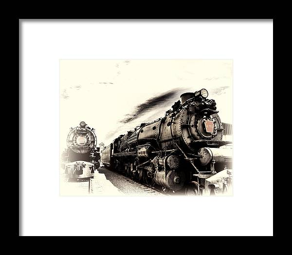 Steam Framed Print featuring the photograph 2 Ghosts by Al Perry