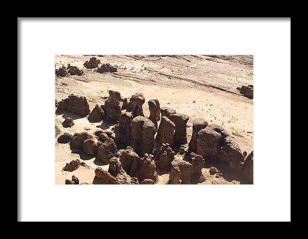 Landscape Framed Print featuring the photograph Giant Sandstone Outcroppings Deep by Michael Fay