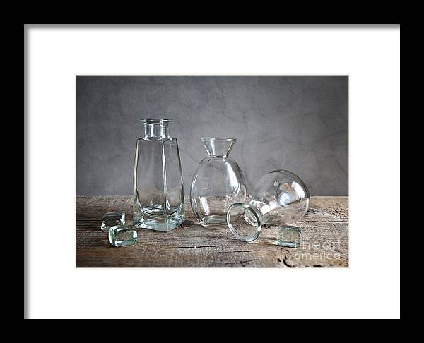 Glass Framed Print featuring the photograph Glass by Nailia Schwarz