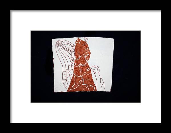 Jesus Framed Print featuring the ceramic art Guardian Angel by Gloria Ssali
