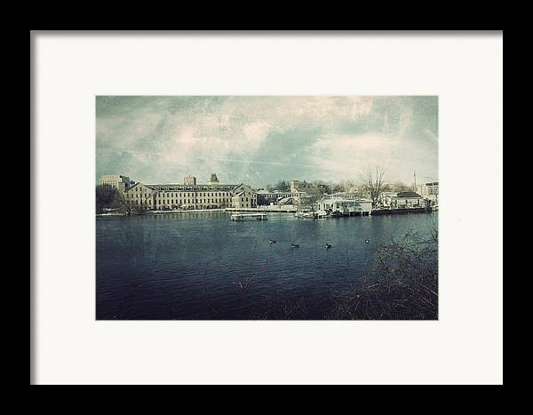 Fox River Mills Framed Print featuring the photograph Historic Fox River Mills by Joel Witmeyer