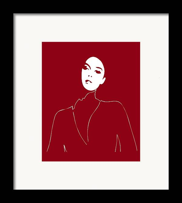 Fashion Framed Print featuring the painting Illustration Of A Woman In Fashion by Frank Tschakert
