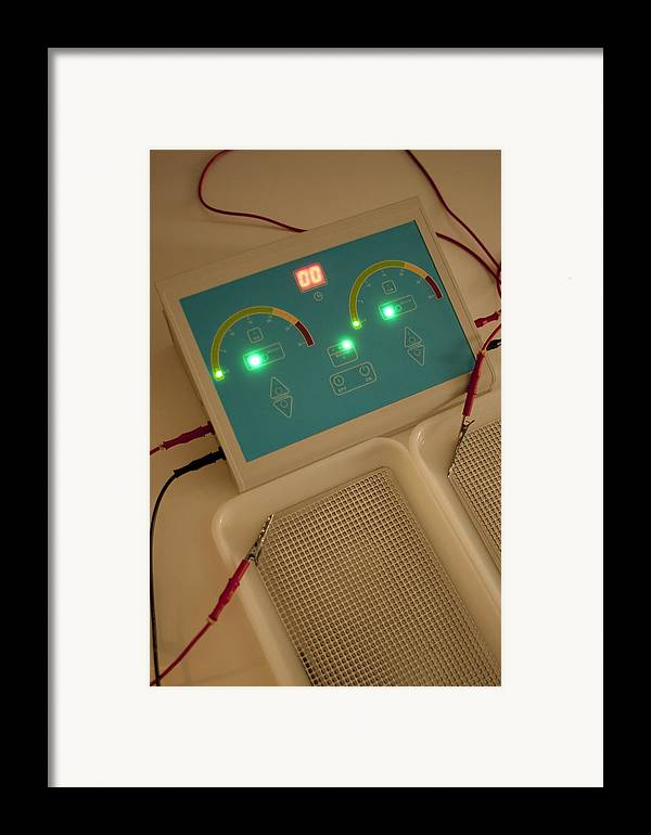 Technology Framed Print featuring the photograph Iontophoresis Equipment by