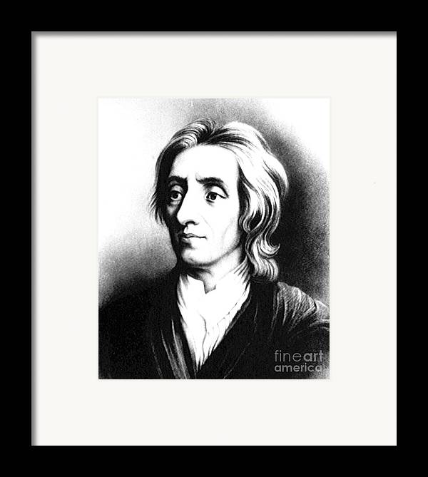 Science Framed Print featuring the photograph John Locke, English Philosopher, Father by Science Source
