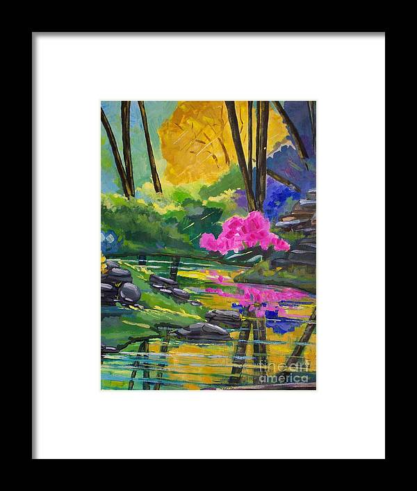 Summer Framed Print featuring the painting Junipine 1 by Nanci Thomas
