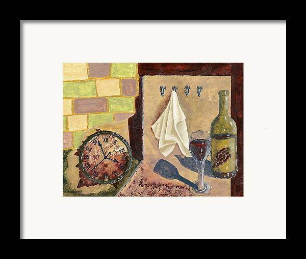 Acrylic Framed Print featuring the painting Kitchen Collage by Susan Schmitz