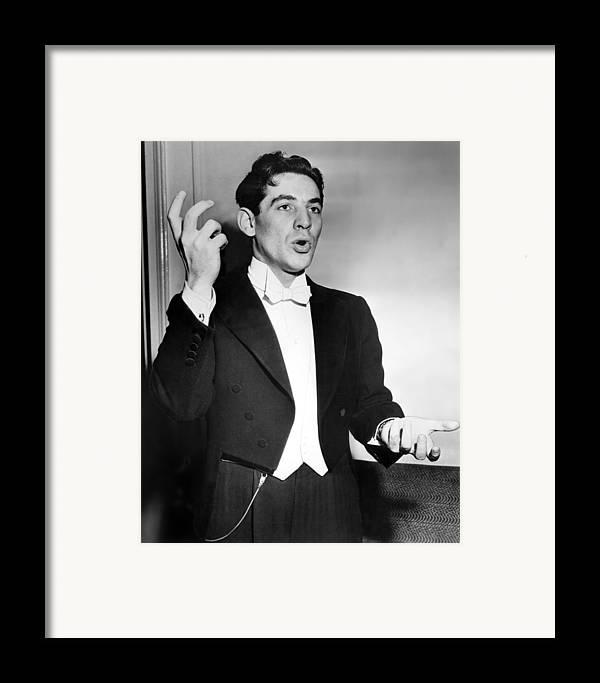1950s Framed Print featuring the photograph Leonard Bernstein 1918-1990 American by Everett