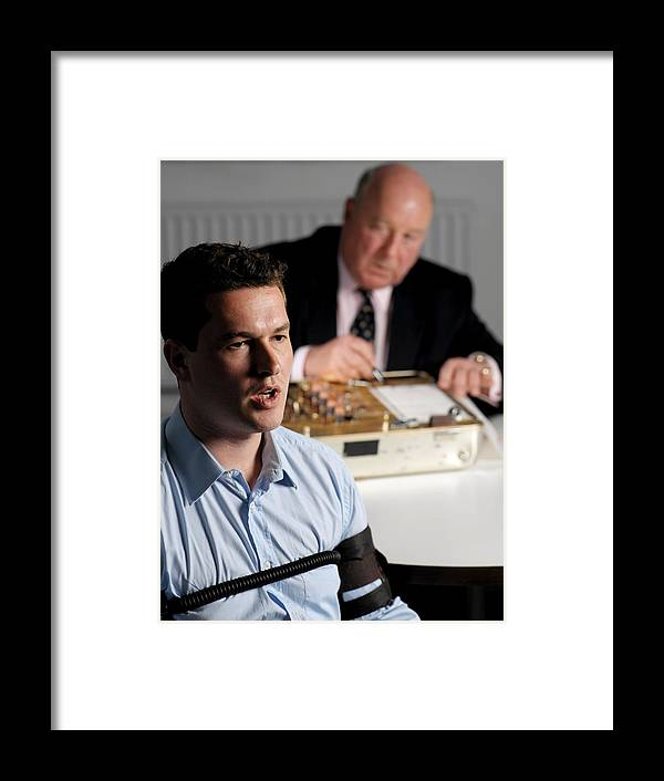 Polygraph Framed Print featuring the photograph Lie Detector Test by Tek Image