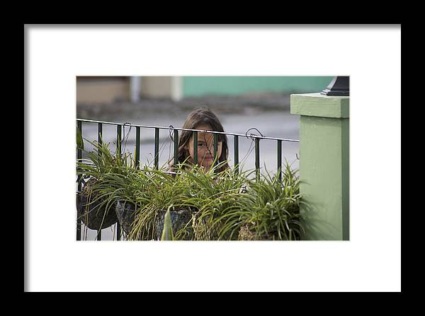 Child Framed Print featuring the photograph L.j. by Christopher Rowlands