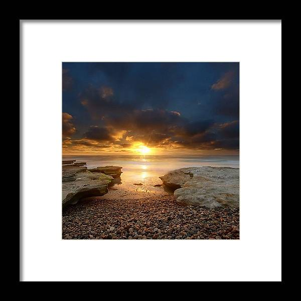 Framed Print featuring the photograph Long Exposure Sunset In North San Diego by Larry Marshall