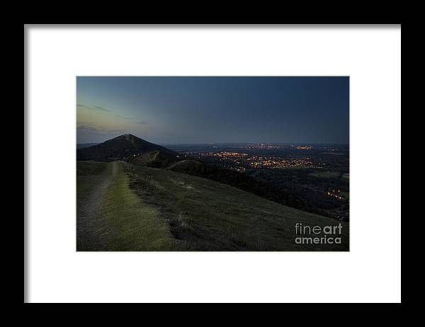 Framed Print featuring the photograph Malvern Hills by Angel Ciesniarska