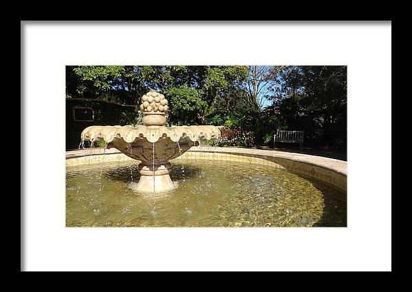Fountain Framed Print featuring the photograph McKean Fountain by Jessica Cruz