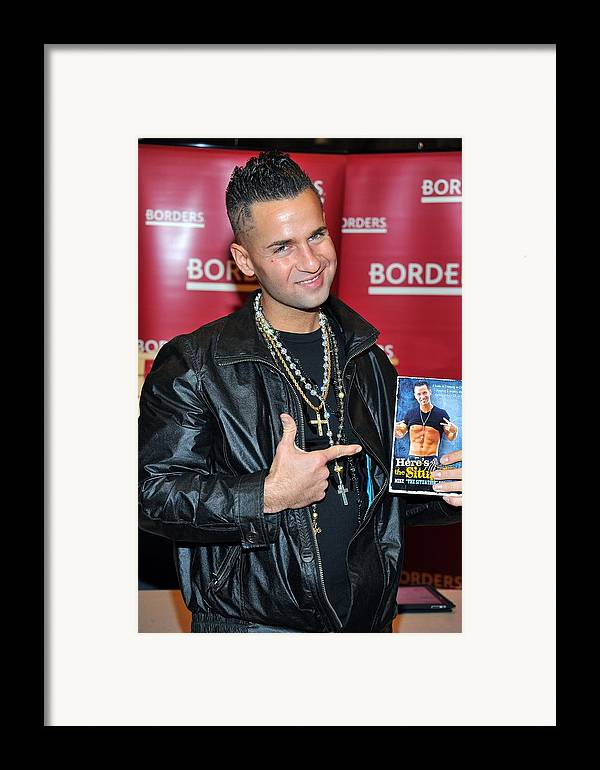 Mike ''the Situation'' Sorrentino Framed Print featuring the photograph Mike The Situation Sorrentino by Everett