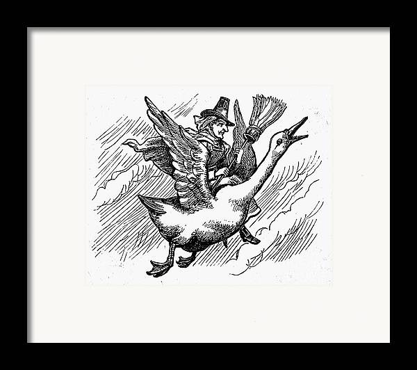 19th Century Framed Print featuring the photograph Mother Goose by Granger
