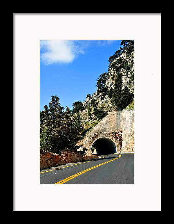 Mountain Framed Print featuring the photograph Mountain Tunnel. by Fernando Barozza