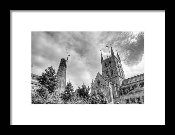 Shard Framed Print featuring the photograph New and Old by Chris Day