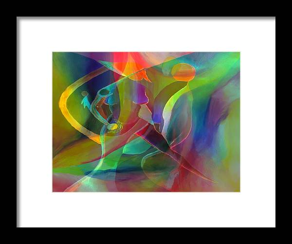 Abstract Framed Print featuring the digital art 2 of Us Falling by Peter Shor