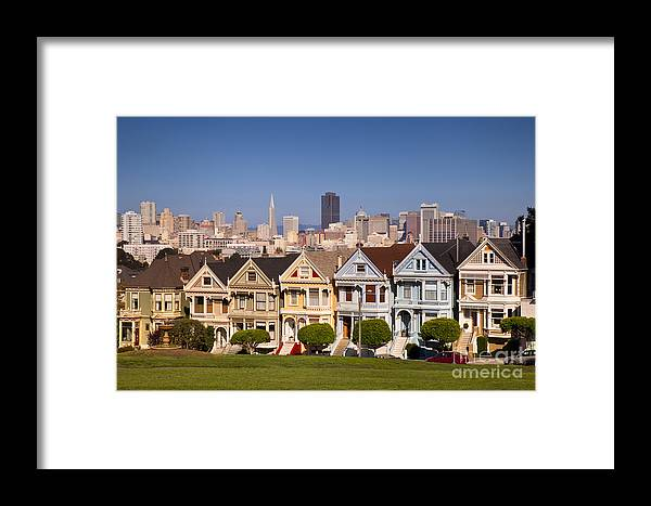 Painted Framed Print featuring the photograph Painted Ladies by Brian Jannsen