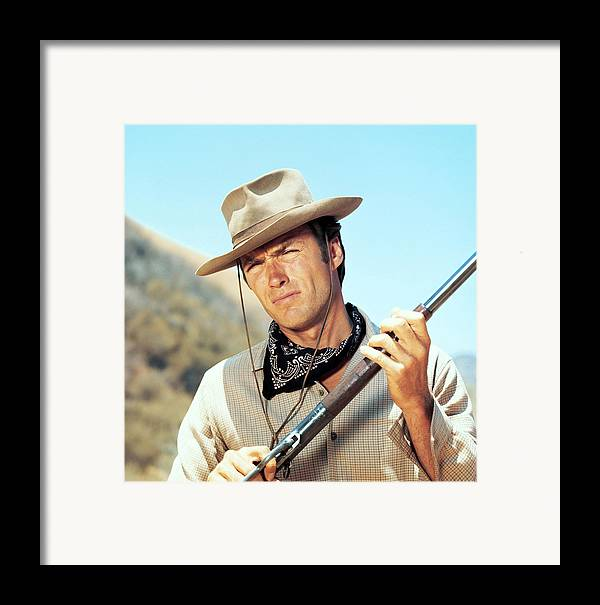 1950s Tv Framed Print featuring the photograph Rawhide, Clint Eastwood, 1959-66 by Everett