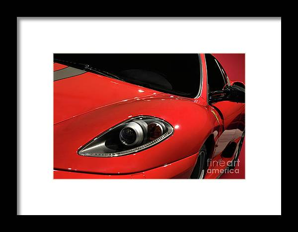 Ferrari Framed Print featuring the photograph Red Ferrari F430 Scuderia by Oleksiy Maksymenko