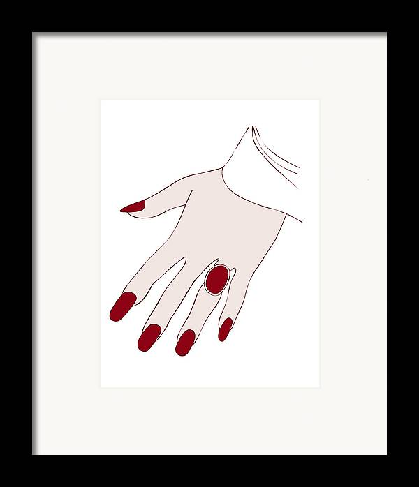 Fashion Framed Print featuring the painting Ring Finger by Frank Tschakert