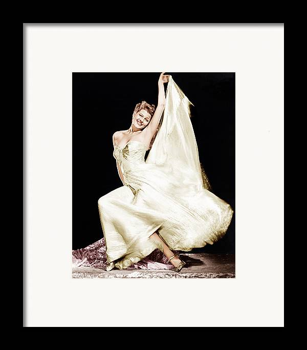 1940s Portraits Framed Print featuring the photograph Rita Hayworth, 1940s by Everett