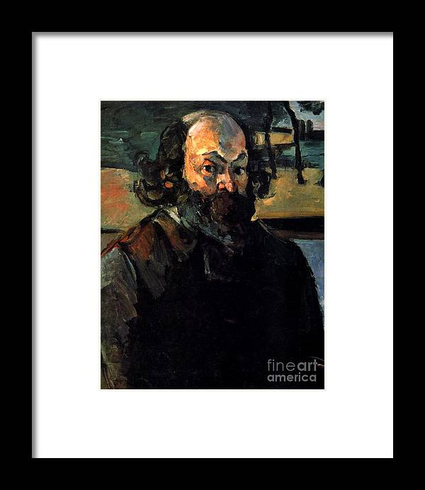 Cezanne Framed Print featuring the painting Self Portrait by Extrospection Art