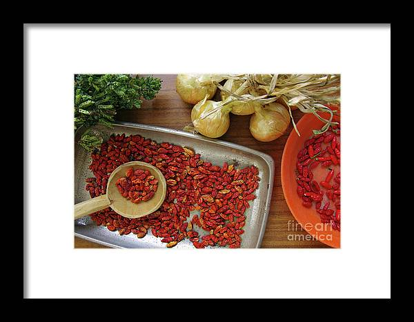 Aromatic Framed Print featuring the photograph Spicy Still Life by Carlos Caetano